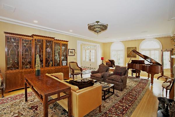 Fort Lee Bluffs Home;  Staged Living Room